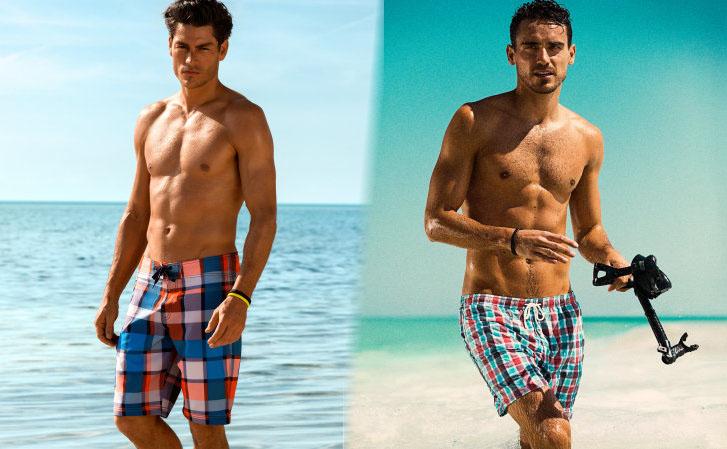 traje de baño en la playa y ropa interior