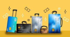 maletas en forma de tarjeta Visa para viajeros